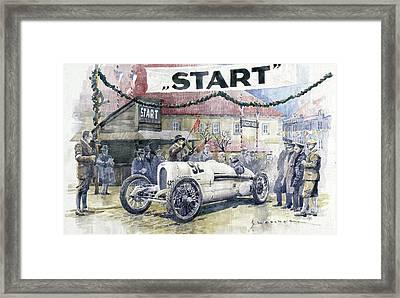 1924 Zbraslav-jiloviste Regularity Ride To The Top Start Walter W-0 Framed Print