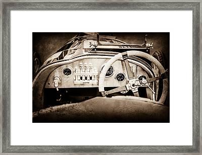 1925 Aston Martin 16 Valve Twin Cam Grand Prix Steering Wheel -0790s Framed Print by Jill Reger