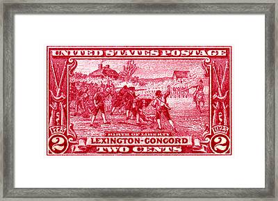 1925 Birth Of Liberty Stamp Framed Print by Historic Image