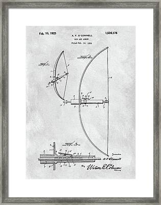 1925 Bow And Arrow Framed Print by Dan Sproul