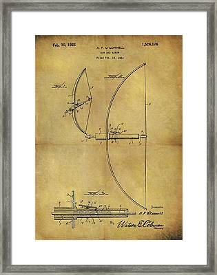 1925 Bow And Arrow Patent Framed Print by Dan Sproul