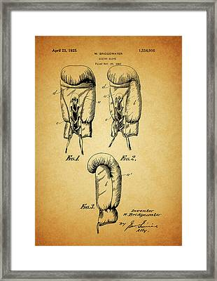 1925 Boxing Glove Patent Framed Print