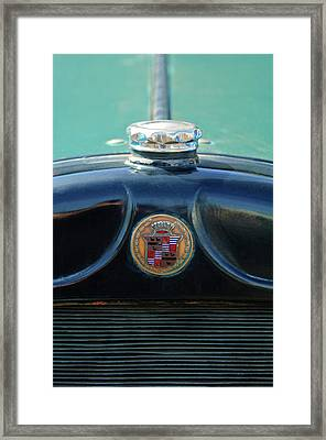 1925 Cadillac Hood Ornament And Emblem Framed Print