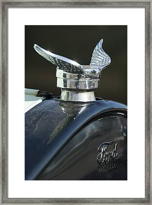 1925 Ford Model T Hood Ornament Framed Print by Jill Reger