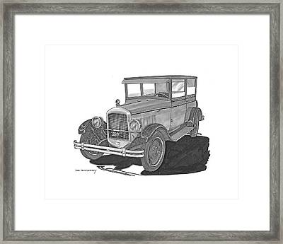 1925 Jewett 2 Door Touring Sedan Framed Print by Jack Pumphrey