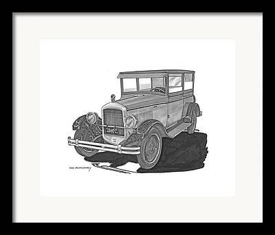 Drawings Of Barns Framed Prints