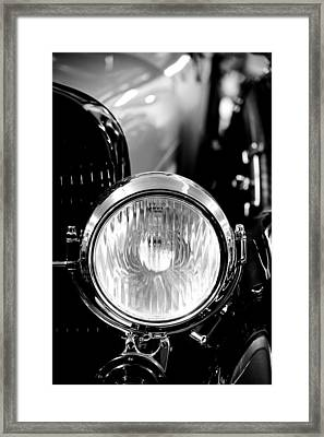 1925 Lincoln Town Car Headlight Framed Print by Sebastian Musial