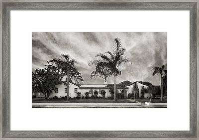 1926 Florida Venetian Style Home - 24 Framed Print by Frank J Benz