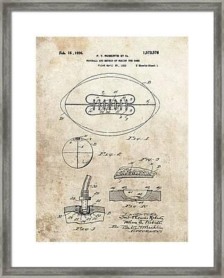 1926 Football Patent Illustration Framed Print