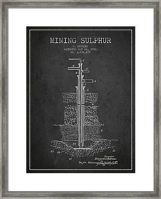 1926 Mining Sulphur Patent En37_cg Framed Print