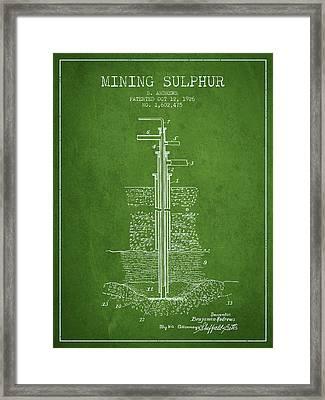 1926 Mining Sulphur Patent En37_pg Framed Print