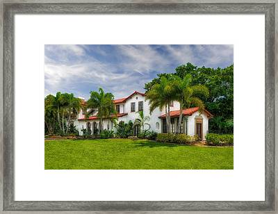1926 Northern Italian Renaissance Style Estate - 55 Framed Print
