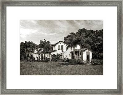 1926 Northern Italian Renaissance Style Estate - 57 Framed Print
