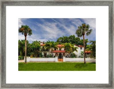 1926 Northern Italian Renaissance Style Estate - 58 Framed Print by Frank J Benz