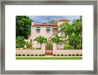 Framed Print featuring the photograph 1926 Northern Italian Renaissance Style Home  -  1926flnoitalrennas172168 by Frank J Benz
