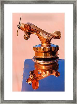 1926 Rickenbacker Eight Super Sport Hood Ornament -1145c Framed Print