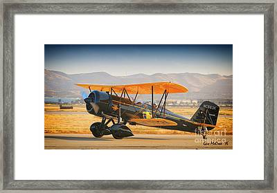 1926 Stearman Speedball  2016 Planes Of Fame Airshow Framed Print