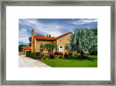1926 Venetian Style Florida Home - 28 Framed Print by Frank J Benz
