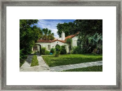 1926 Venetian Style Florida Home - 31 Framed Print by Frank J Benz