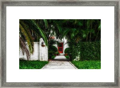 1926 Venetian Style Florida Home Entrance - 1 Framed Print