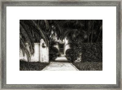 1926 Venetian Style Florida Home Entrance - 3 Framed Print
