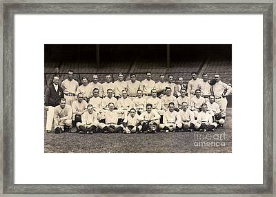 1926 Yankees Team Photo Framed Print by Jon Neidert