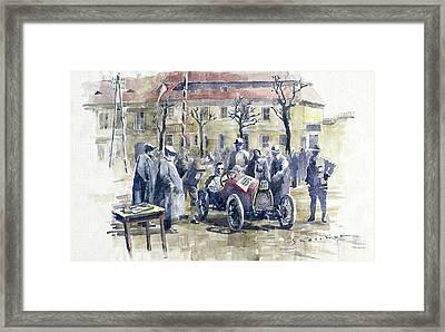 1926 Zbraslav Jiloviste Start Bugatti T13 Brescia. Framed Print