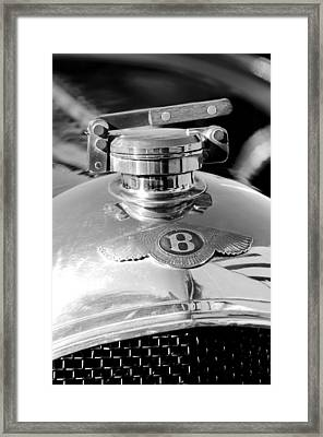1927 Bentley Hood Ornament 2 Framed Print