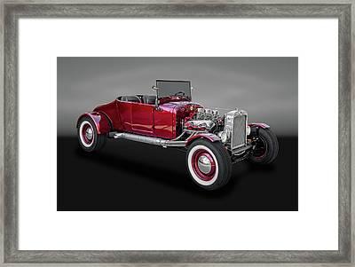 1927 Ford Model T Runabout Street Rod  -  1927fdmdltbw015 Framed Print by Frank J Benz