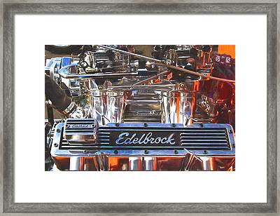 1927 Ford Roadster Engine Painterly Impression Framed Print