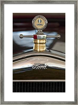 1927 Ford T Roadster Hood Ornament Framed Print by Jill Reger