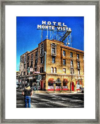 1927 Hotel Monte Vista - Flagstaff  Framed Print by Saija  Lehtonen