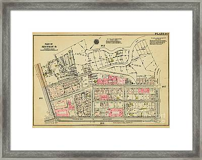 Framed Print featuring the photograph 1927 Inwood Map  by Cole Thompson