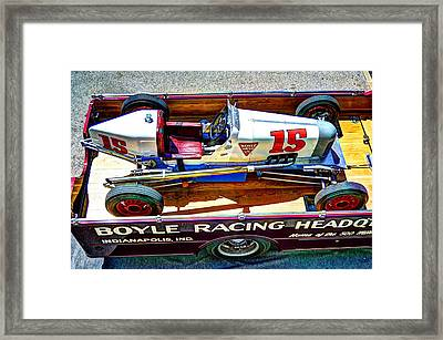 1927 Miller 91 Rear Drive Racing Car Framed Print by Josh Williams