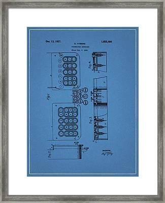 1927 Typewriter Patent Framed Print