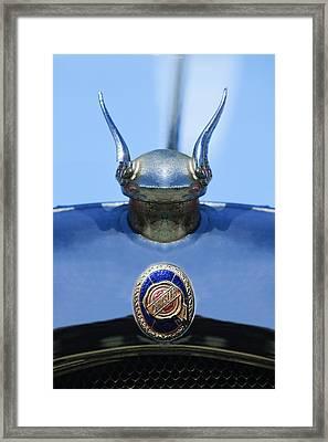 1928 Chrysler Model 72 Deluxe Roadster Hood Ornament - Emblem -0806c Framed Print by Jill Reger