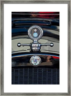 1928 Dodge Brothers Hood Ornament Framed Print by Jill Reger