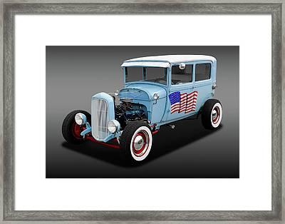 1928 Ford Model A Tudor Sedan  -  1928fordsedfa170289 Framed Print