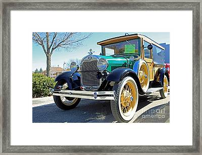 1928 Ford Model A Woodie Front Framed Print by Blaine Nelson