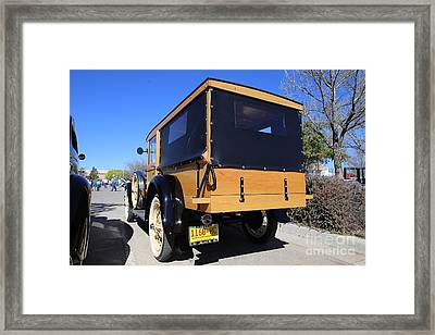 1928 Ford Model A Woodie Rear Framed Print by Blaine Nelson