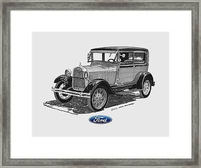 Model A Ford 2 Door Sedan Framed Print by Jack Pumphrey