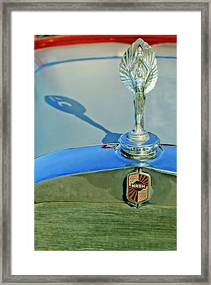 1928 Nash Coupe Hood Ornament 3 Framed Print by Jill Reger