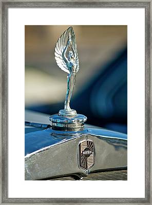 1928 Nash Coupe Hood Ornament Framed Print by Jill Reger
