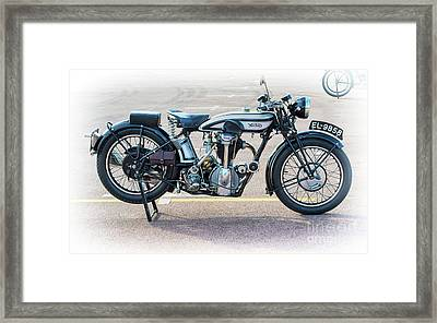 1928 Norton Cs1 Framed Print by Tim Gainey