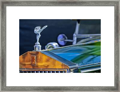 1928 Rolls-royce Phantom I Derby Speedster Hood Ornament Framed Print