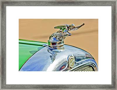 1928 Studebaker Hood Ornament Framed Print by Jill Reger