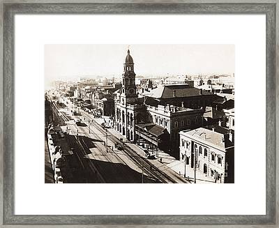 1928 Vintage Adelaide City Landscape Framed Print by Jorgo Photography - Wall Art Gallery