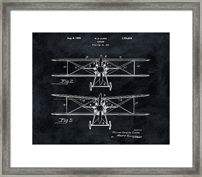 1929 Airplane Patent Framed Print by Dan Sproul