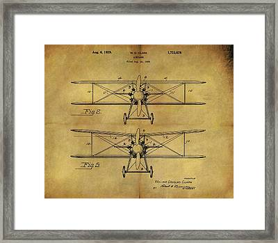 1929 Airplane Patent Vintage Framed Print by Dan Sproul