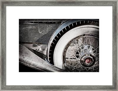 1929 Duesenberg Model J Dual Cowl Phaeton Wheel -0387ac Framed Print